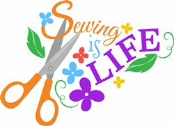 Sewing Is Life print art