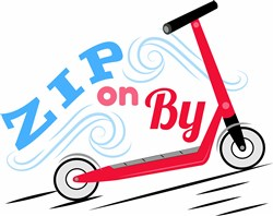 Zip On By print art