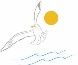 Seagull Outline print art