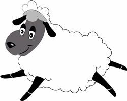 Sheep print art