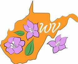 West Virginia Flowers print art