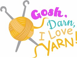 I Love Yarn print art