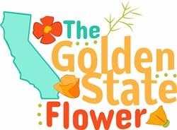Golden State Flower print art
