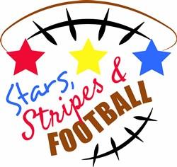 Stars Stripes & Football print art