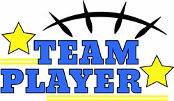 Team Player print art