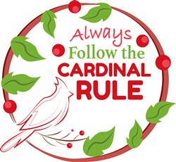 Cardinal Rule print art