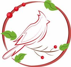 Cardinal Outline print art