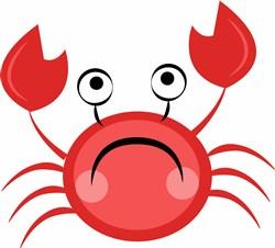 Crab print art