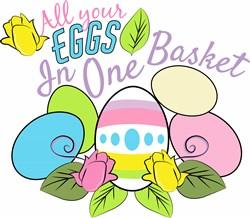 Eggs In One Basket print art