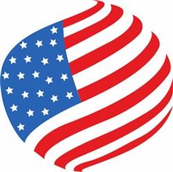 American Flag print art