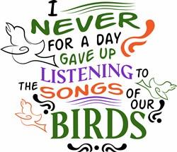 Songs Of Birds print art