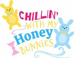 My Honey Bunnies print art
