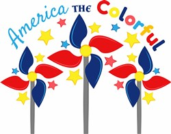America The Colorful print art