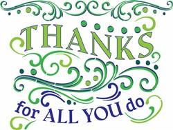 Thanks For All You Do print art