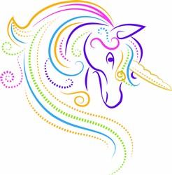 Ripple Unicorn print art