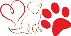Dog Love print art