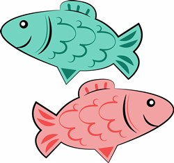 Cartoon Fish print art