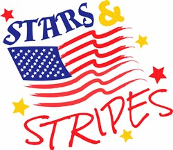 Stars & Stripes print art
