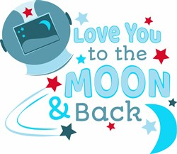 Love You To Moon print art