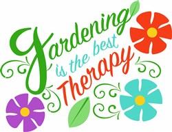 Gardening Therapy print art
