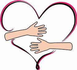 Hug Heart print art