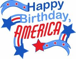 Happy Birthday America print art