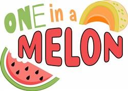 One In Melon print art
