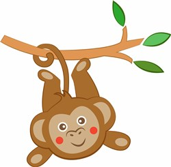 Monkey In Tree print art
