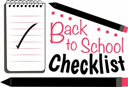 School Checklist print art