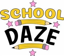 School Daze print art