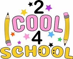 2 Cool 4 School print art