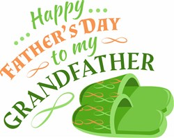 Fathers Day To Grandfather print art