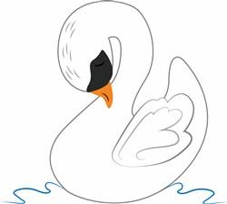 Swan Outline print art