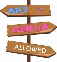 No Girls Allowed print art