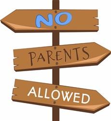 No Parents Allowed print art