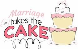 Marriage Takes Cake print art