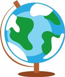 World Globe print art