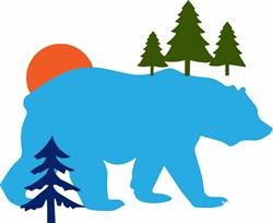Bear In Trees print art
