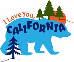 Love You California print art