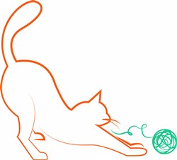 Cat & Yarn print art