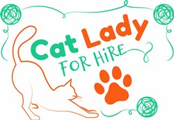 Cat Lady print art