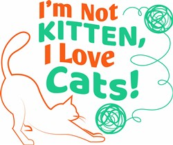 I Love Cats print art
