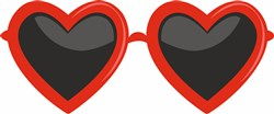 Heart Glasses print art