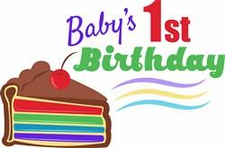 Babys 1st Birthday print art