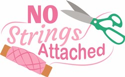 No Strings Attached print art