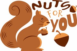 Nuts For You print art