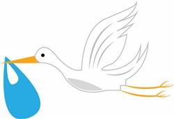 Delivery Stork print art