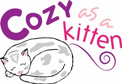 Cozy Kitten print art