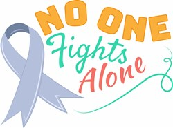 No One Fights Alone print art