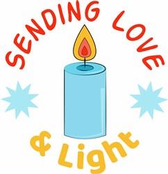 Sending Love And Light print art
